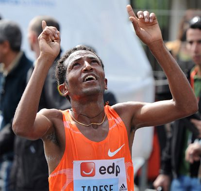 Tadese celebra el triunfo en Lisboa