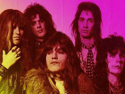 El grupo The Hollywood Brats (en el centro su líder, Andrew Matheson).