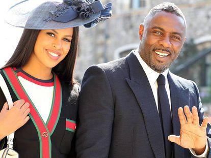Idris Elba y Sabrina Dhowre en la boda de Enrique de Inglaterra y Meghan Markle, en Londres, el pasado 19 de mayo.