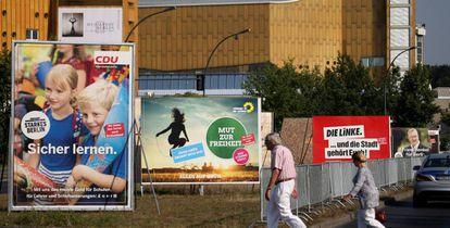 Cartelería electoral en Berlín.