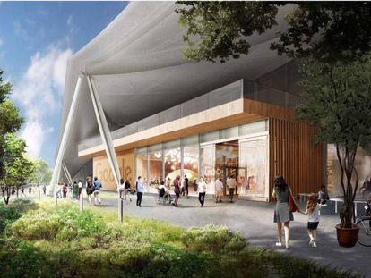 Infografía de la futura sede de Google en Mountain View
