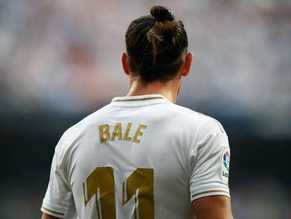 Gareth Bale, contra el Valladolid en el Bernabéu.