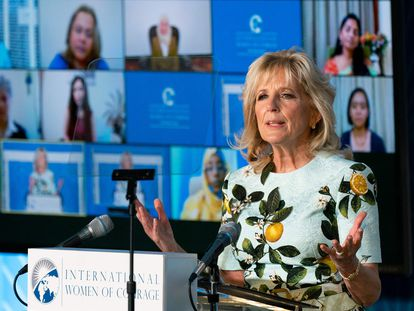 Jill Biden, en un acto el pasado 8 de marzo.