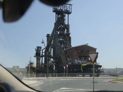 El horno alto de la siderurgia de Sestao, en 2016.