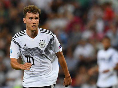 Waldschmidt, durante un partido del Europeo sub-21.