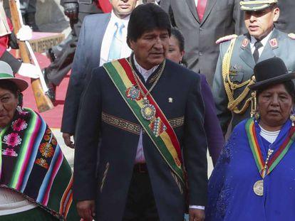 El presidente boliviano, Evo Morales, en La Paz.