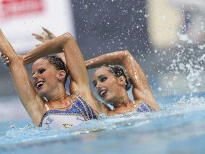 Carbonell y Klamburg, durante la competición.
