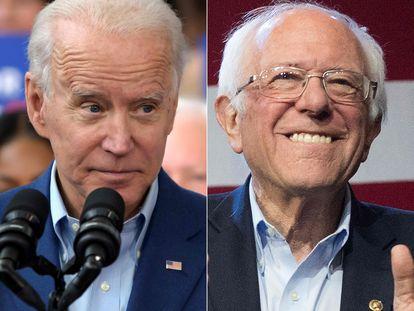 Imágenes de archivo de Joe Biden (izquierda) y Bernie Sanders.