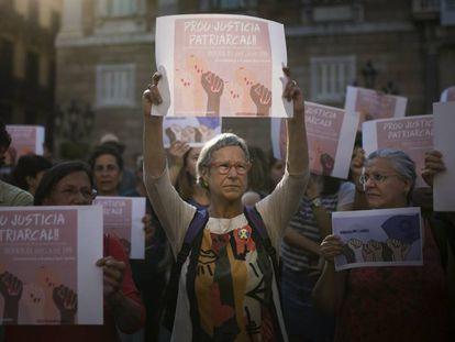 Protesta contra las agresiones sexuales, en junio en Barcelona.