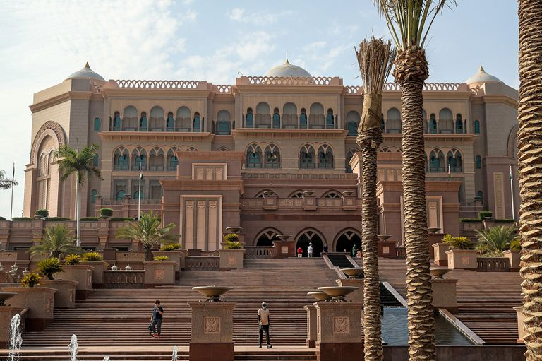 Fachada del hotel Emirates Palace, en septiembre de 2019.