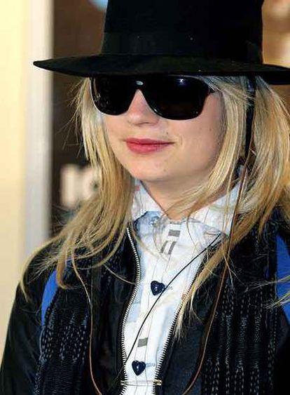 J. T. Leroy (Savannah Knoop) asiste al estreno del filme <i>El corazón es mentiroso</i> en Roma en 2005.