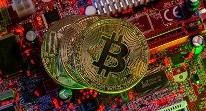 Representación de bitcoins.