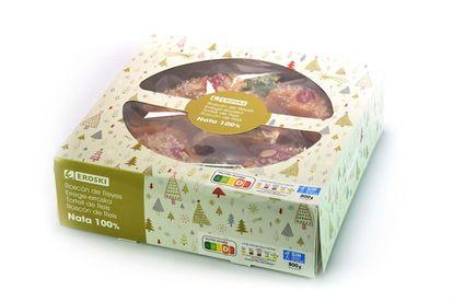 Imagen de un roscón de Reyes de Eroski, elegido por la OCU como el mejor de los vendidos en supermercados en 2020.