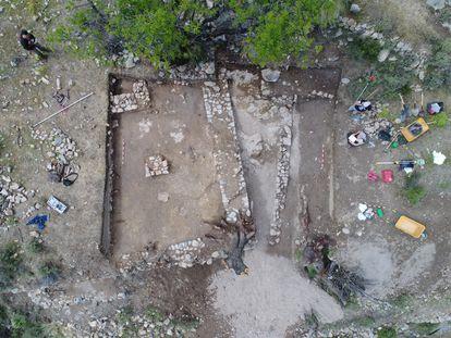 Vista zenital de la planta de la Mezquita de Juviles. Imagen cedida por la Universidad de Granada (UGR).