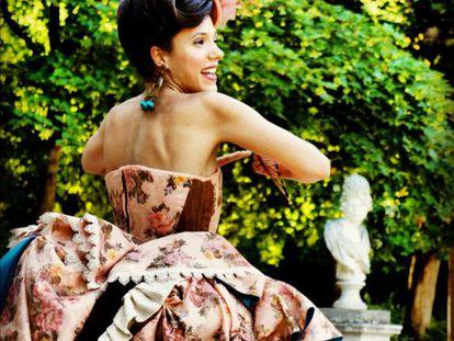 Laia Alemany caracterizada como la Duquesa de Osuna