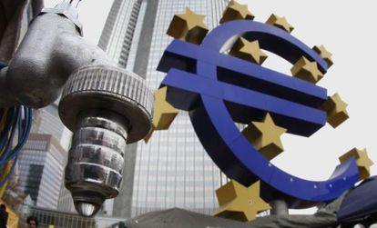 Fachada de la sede del Banco Central Europeo en Fráncfort