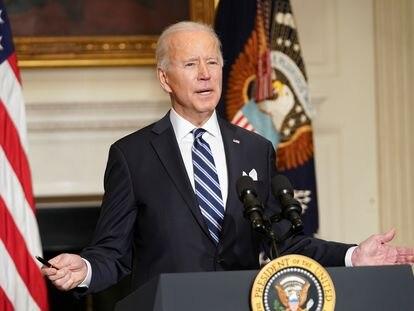 Joe Biden, comparece ante la prensa el pasado miércoles, en la Casa Blanca.