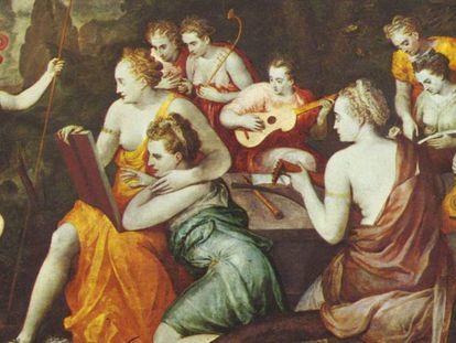 'Atenea y las musas', de Frans Floris de Vriendt.