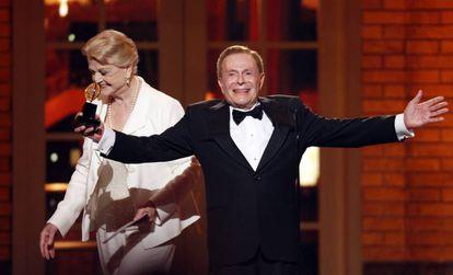 Jerry Herman en 2009 cuando recibió un premio Tony por su trayectoria.
