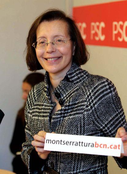 La ex consejera de Justicia y secretaria segunda del Parlament, la socialista Montserrat Tura, explica su decisión de concurrir a las primarias de su partido para disputar la candidatura de la alcaldía de Barcelona a Jordi Hereu.