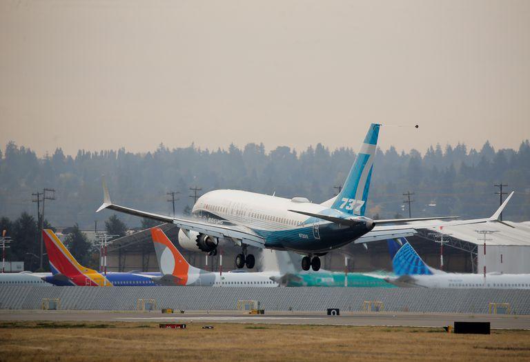 Un 737 MAX, en un vuelo de prueba en Seattle (EE UU), el pasado 30 de septiembre.