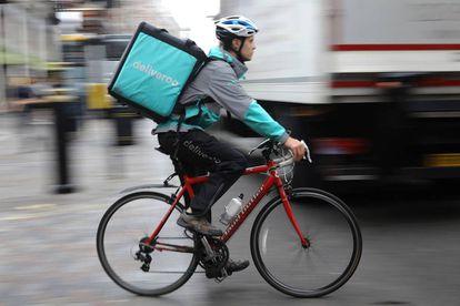 'Rider' de Deliveroo en Londres