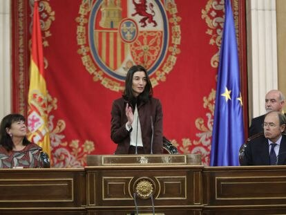 Pilar Llop preside la sesión de constitución del Senado.