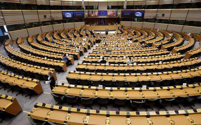 El pleno del Parlamento Europeo, el pasado jueves, en Bruselas.