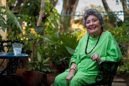 Claribel Alegría, en su casa de Managua (Nicaragua), en mayo de 2017.