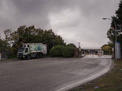 Aspecto de la entrada de la incineradora de residuos de Valdemingómez, Madrid.