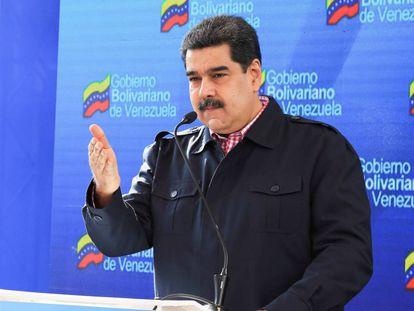 Nicolás Maduro este domingo durante las elecciones locales.
