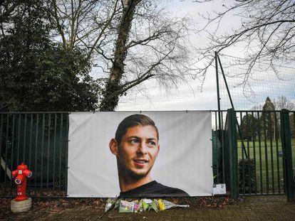 Una foto de Sala en el campo de entrenamiento del Nantes.