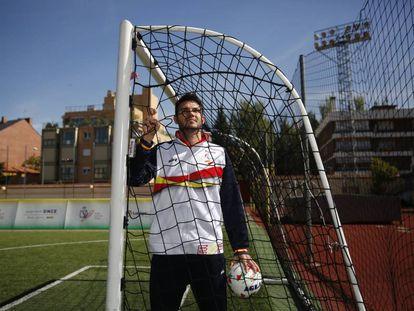 Sergio Rodríguez, portero de la selección española de fútbol de ciegos.