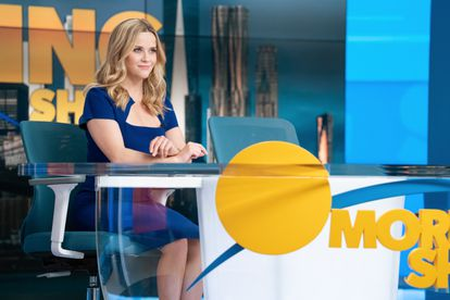 Bradley Jackson (played by Reese Witherspoon), trying to be America's blonde in the second season of 'The Morning Show'.