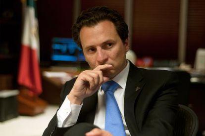 Emilio Lozoya, Director General de PEMEX, durante la entrevista