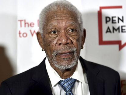 Morgan Freeman, en el Museo Americano de Historia Natrual, en Nueva York, el pasado mayo.
