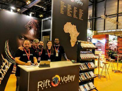 Stand de Rift Valley Expeditions en Fitur 2019.
