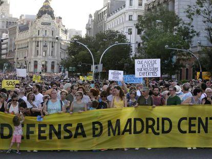 La manifestación a favor de Madrid Central.