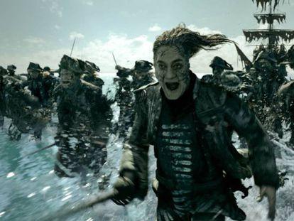 Fotograma del tráiler de 'Piratas del Caribe: La venganza de Salazar', con Javier Bardem.