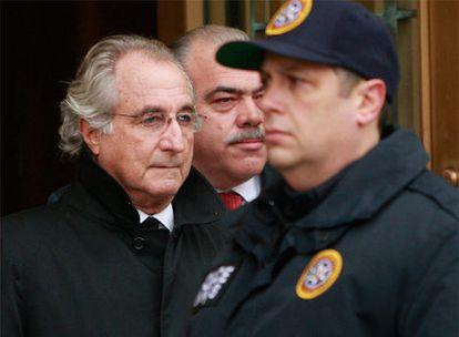 Bernard Madoff, el 14 de enero pasado, cuando fue a declarar ante el juez en Nueva York.