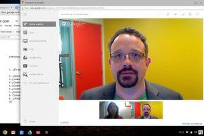 Videoconferencia con Hangouts.