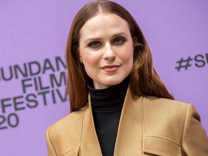 La actriz Evan Rachel Wood, en el Festival de Cine Sundance en enero de 2020.