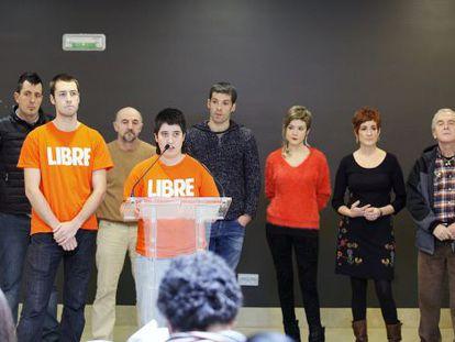 Un momento de la presentación del manifiesto en San Sebastián.