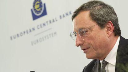 Mario Draghi, presidente del BCE, en una imagen de principios de octubre