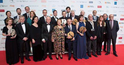 Los ganadores de los premios Forqué, al acabar la ceremonia.