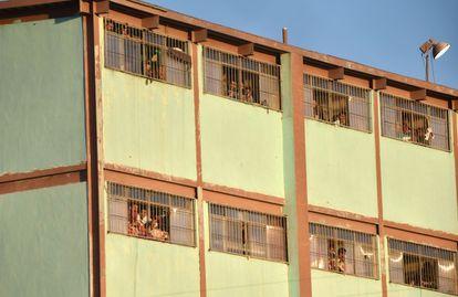 Ventanas del penal de Topo Chico (Monterrey) el pasado 11 de febrero.