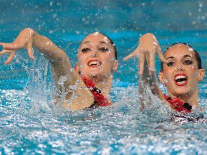 Ona Carbonell y Andrea Fuentes, en los Europeos.