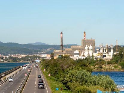 Vista de la planta de Ence en Pontevedra