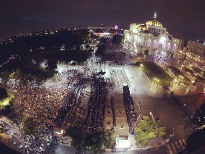 La manifestación del 15 de septiembre concluyó sin poder llegar al Zócalo de la Ciudad de México.