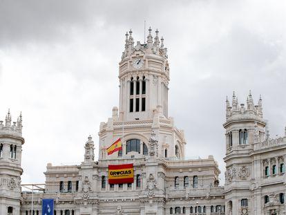 Fachada del Ayuntamiento de Madrid.